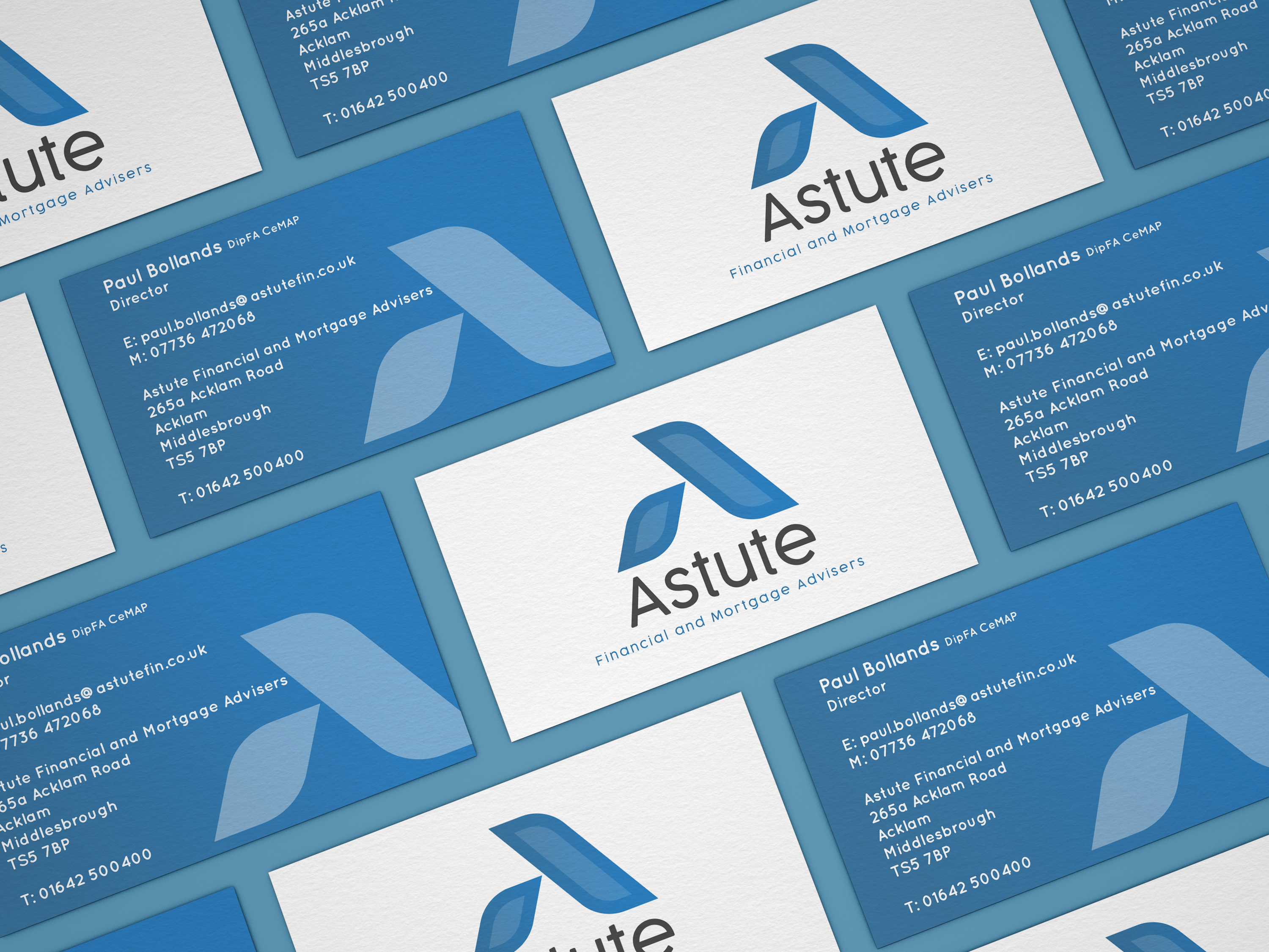 Astute Finance Business Card design