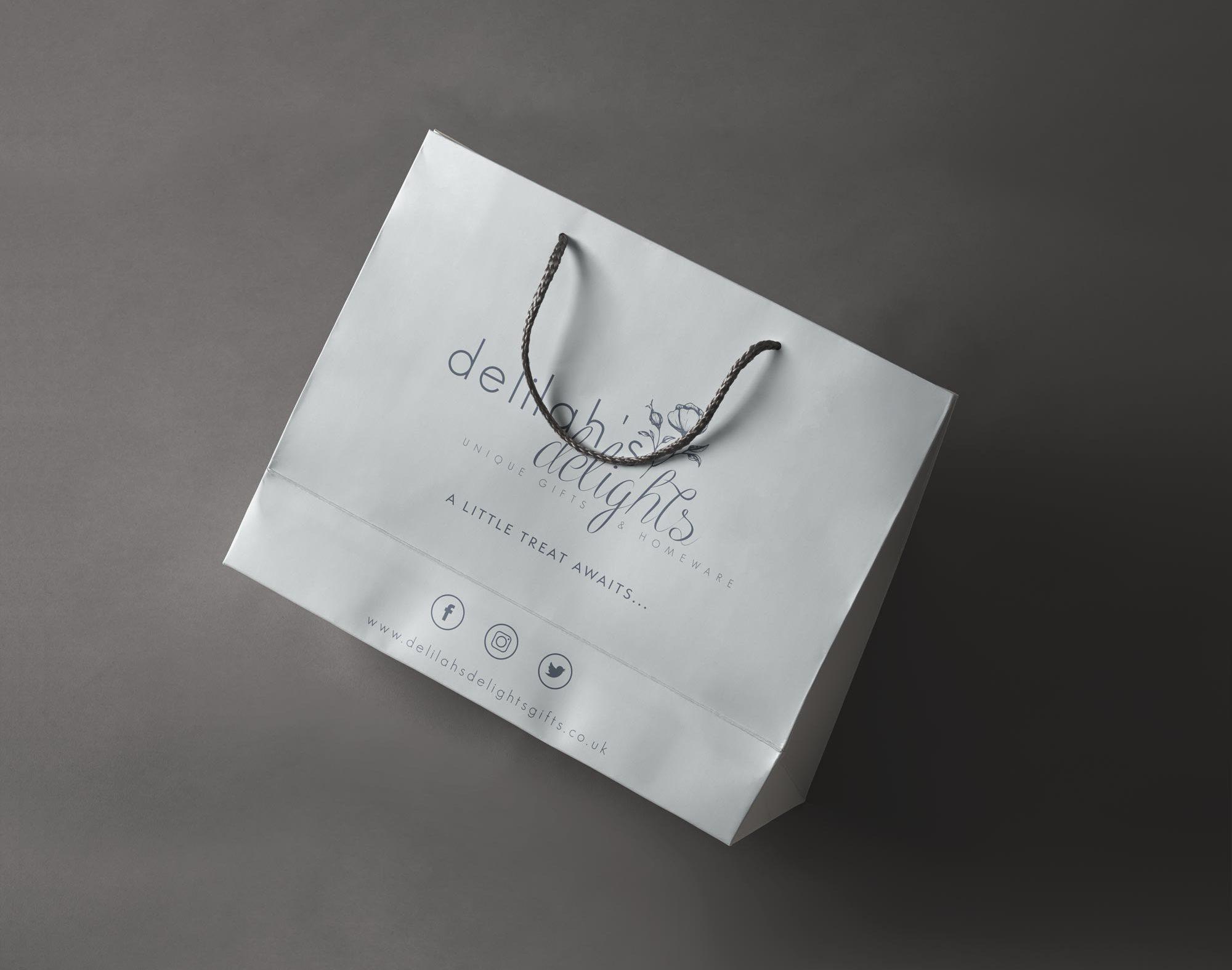 Delilah's Delights Gift Bag Design