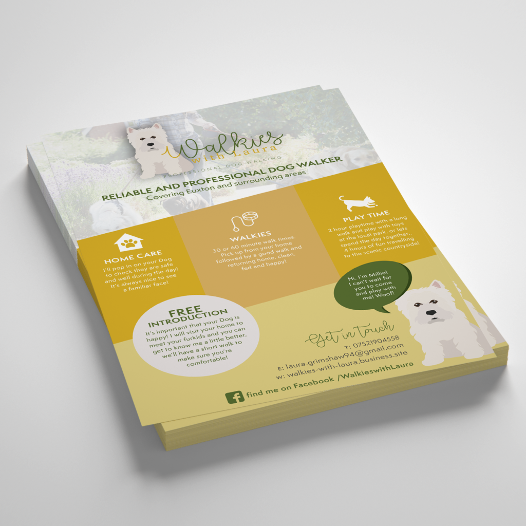 Walkies with Laura Leaflet Design