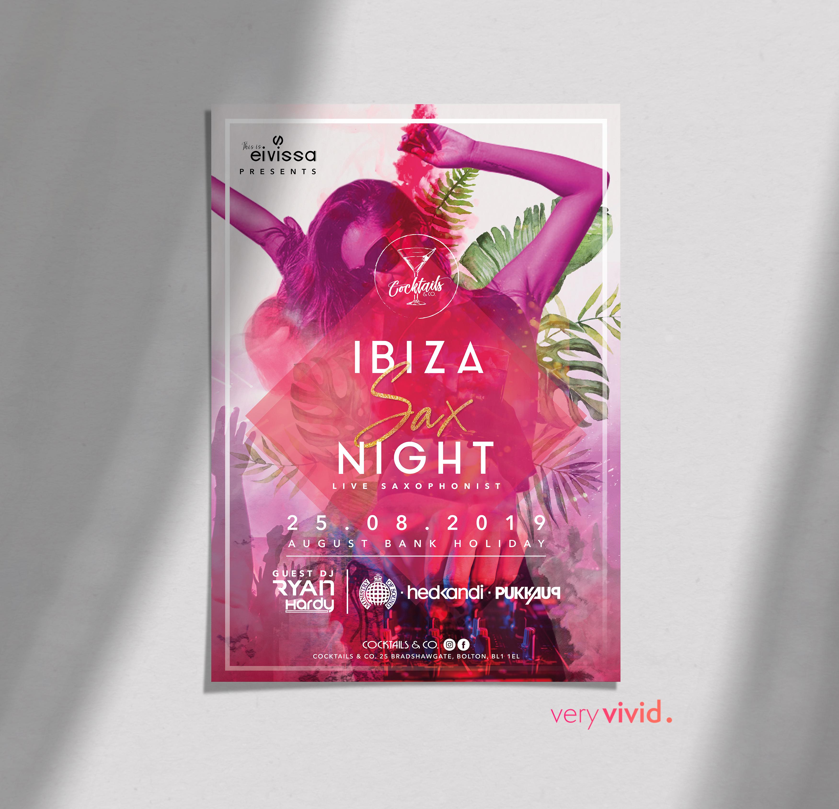 Ibiza Night Poster Design