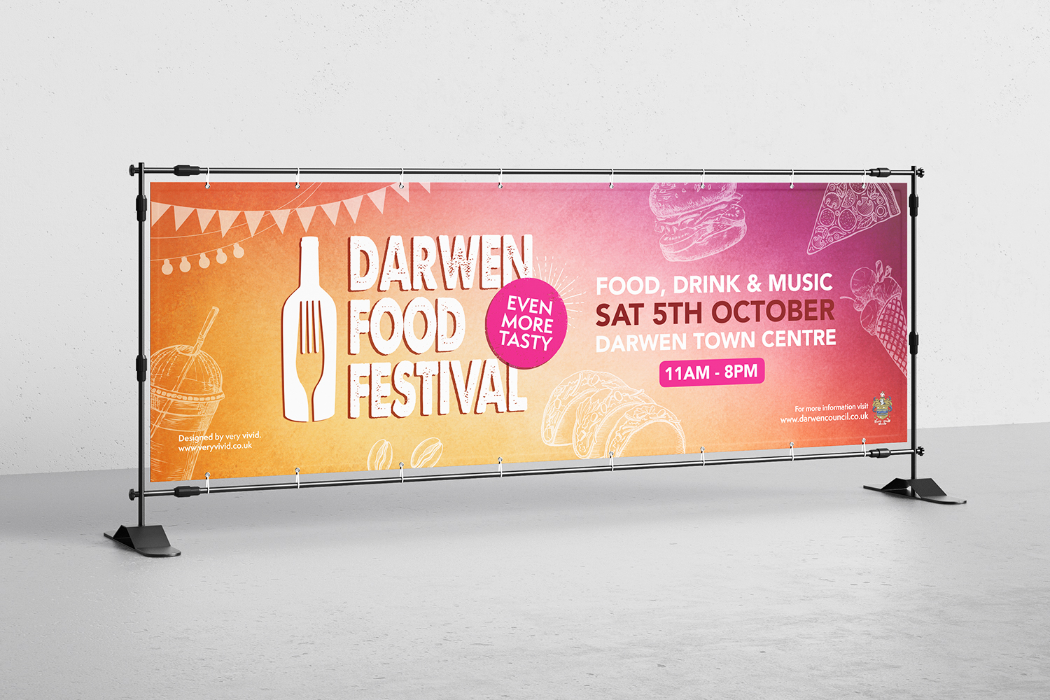 Darwen Food Festival 2019 Artwork & Designs
