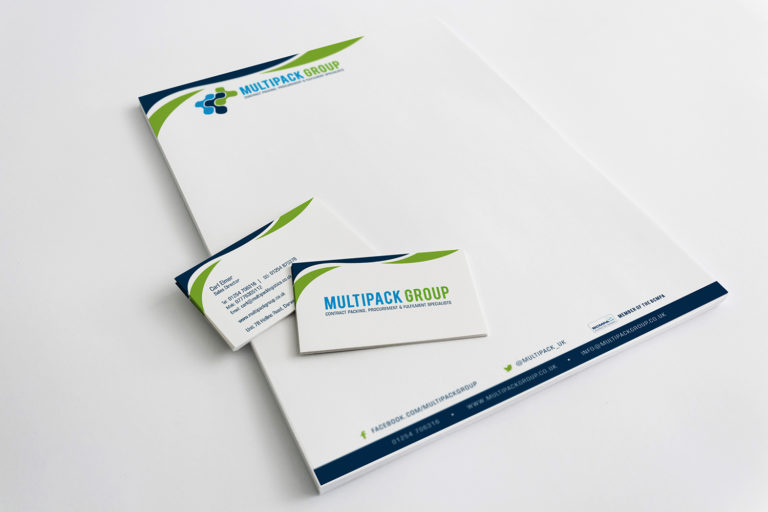 Multipack Group Company Stationery Designs