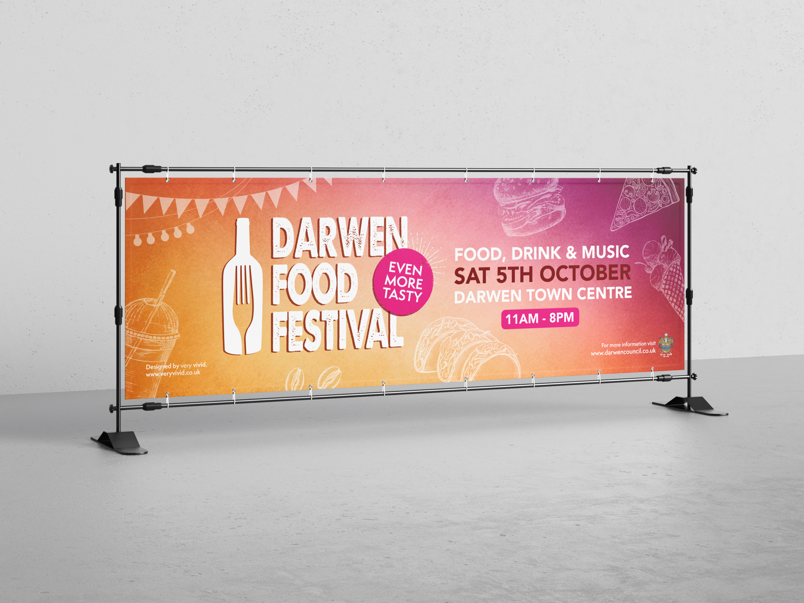 Darwen Food Festival 2019 Artwork Design by Very Vivid Graphic Designer Blackburn