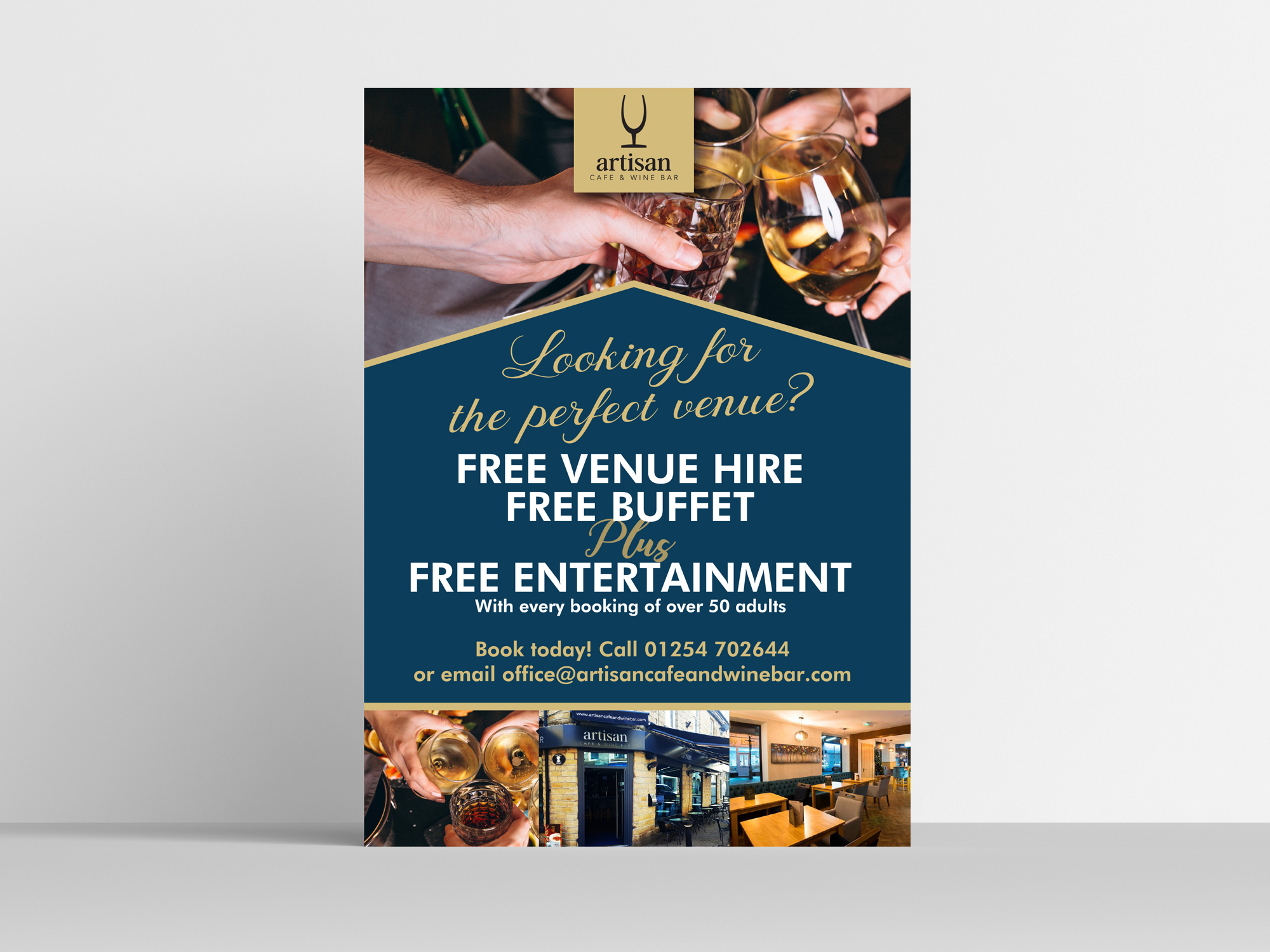 Poster Design for Artisan Cafe & Wine Bar