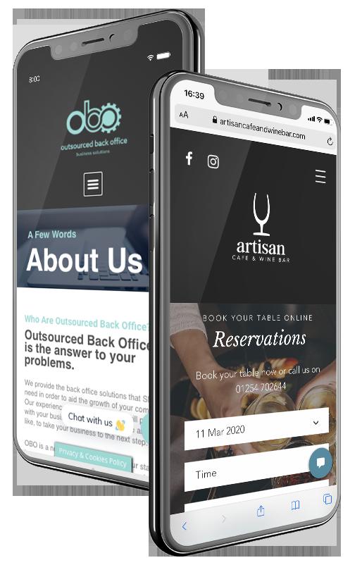 Mobile and Tablet Responsive Websites developed by Very Vivid, Blackburn Lancashire