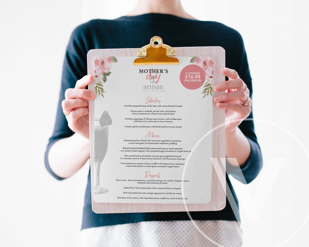 Menu Design & Restaurant Branding by Very Vivid, Graphic Design & Marketing Lancashire