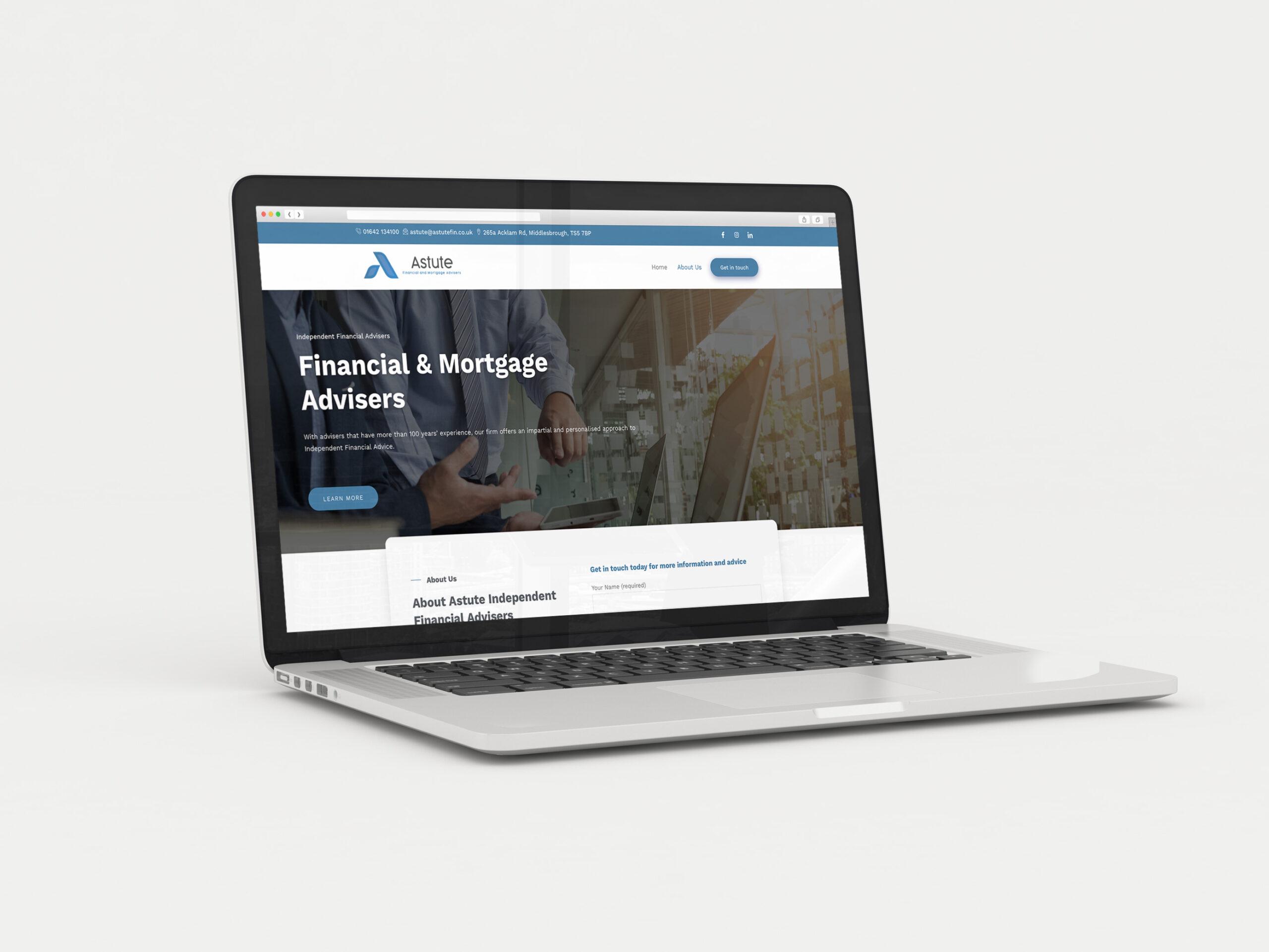Astute Finance & Mortgage website development by Very Vivid, marketing support Blackburn Lancashire