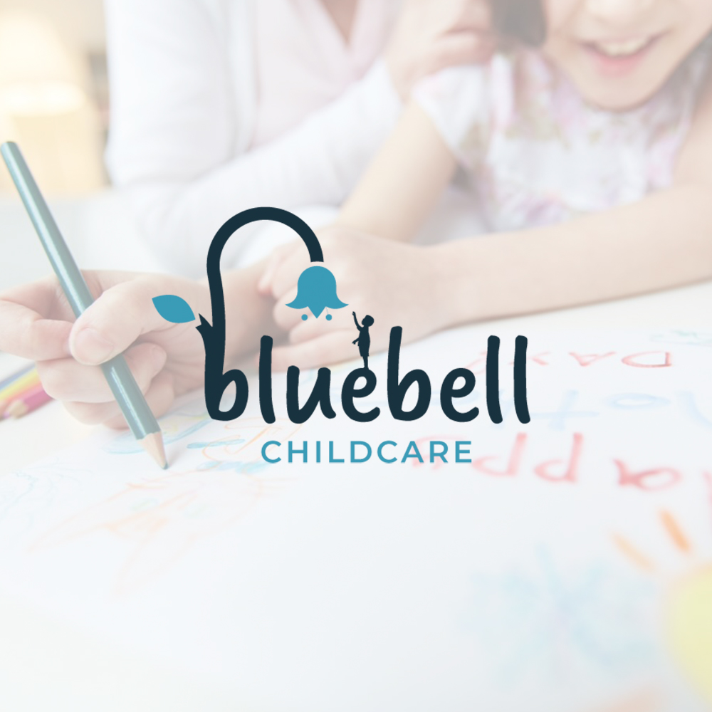 More of our work at Very Vivid. Logo Design & Branding for local childcare provider, Bluebell.