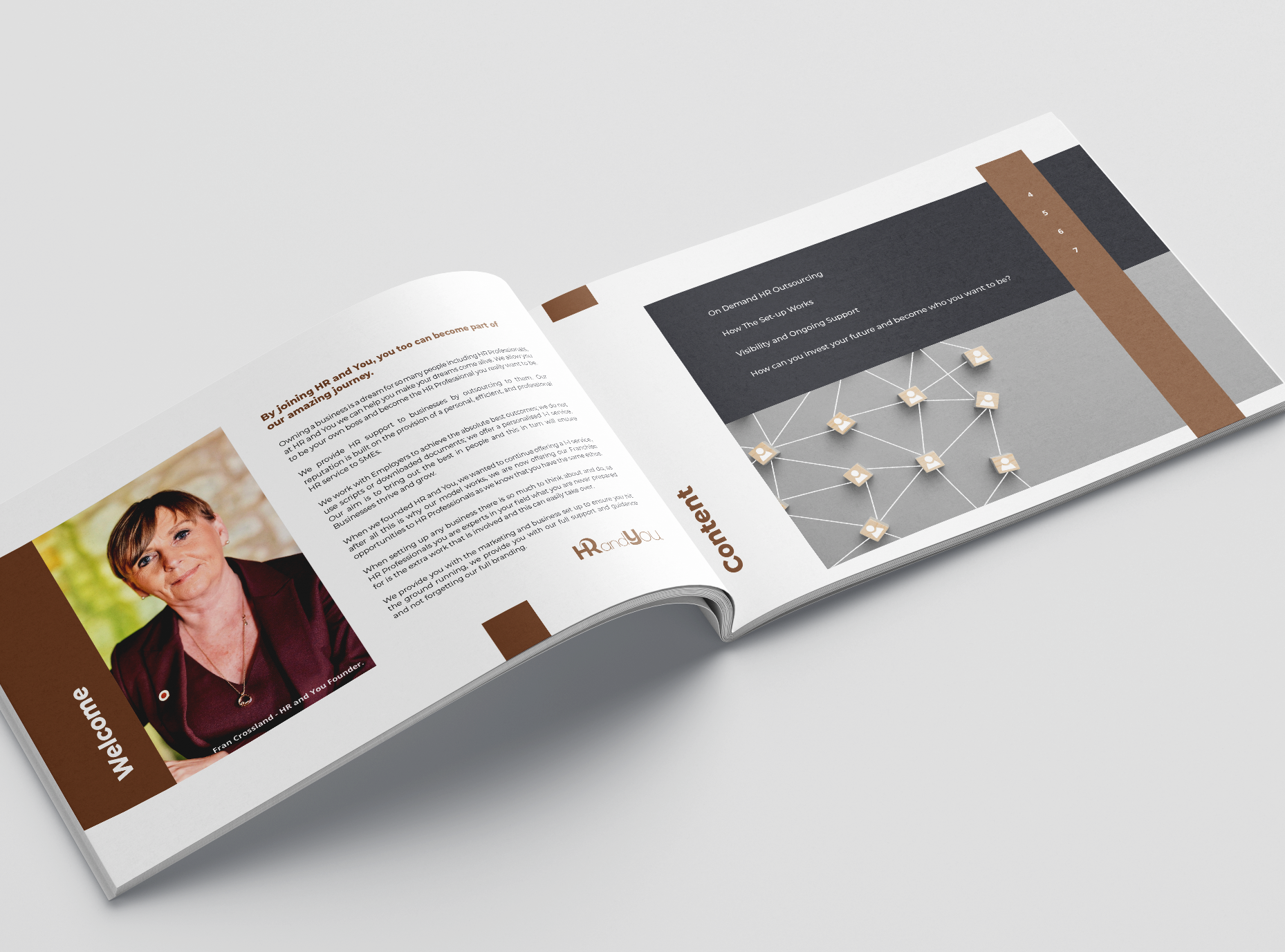 Brochure Design for HR & You, Award winning HR Consultancy. Graphic Design services, Blackburn Lancashire by Very Vivid digital marketing