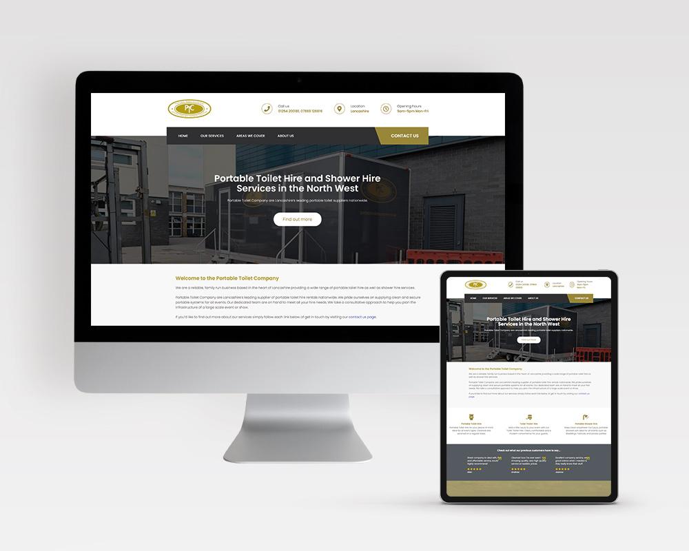 Website Design & Development for Portable Toilet Company, by Very Vivid Digital Marketing Agency Blackburn