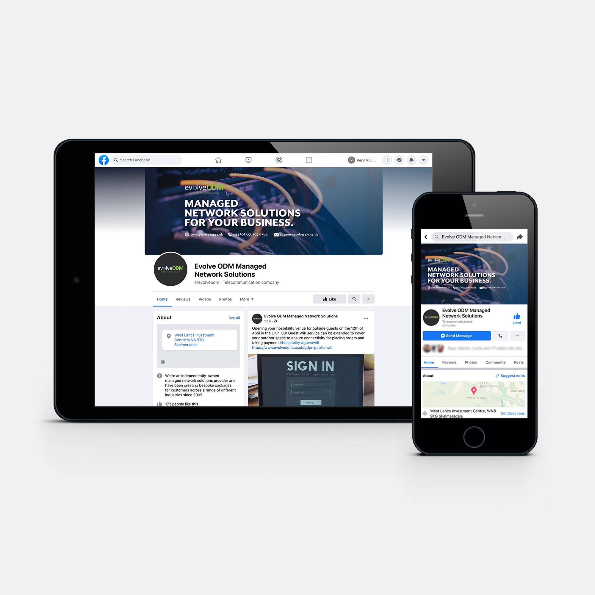 Social Media Artwork Design for EvolveODM. Digital Marketing services by Very Vivid.