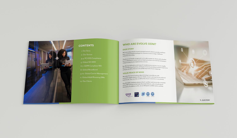 Brochure Design for EvolveODM, Graphic Designer Blackburn, Very Vivid Marketing