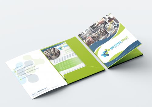 Multipack Group Presentation Folder design