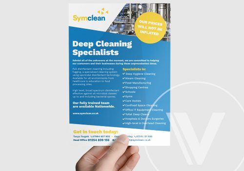 Leaflet Design for SymClean Professional Cleaners