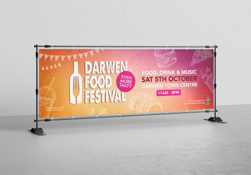 Darwen Food Festival 2019 Artwork Design by Very Vivid Graphic Designer Blackburn